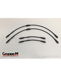 GruppeM AUDI A4 (B8) 1.8 TFSI 2008 - 2011 CARBON STEEL FITTING FRONT & REAR SET (BH-2028)
