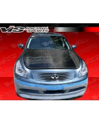 VIS Racing Carbon Fiber Hood OEM Style for Infiniti G35 4DR 07-08