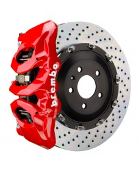 Toyota Supra GR A90 MK5 Brembo GT 380x34mm 2-Piece 6-Piston Red Front Drilled Big Brake Kit