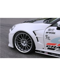 Charge Speed 20MM FRP Type 3 Front Fenders Set (Japanese FRP) 4 Pieces Subaru BR-Z ZC-6/ Toyota 86 ZN-6 13-20
