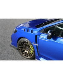 ChargeSpeed Carbon Vented Lower Garnish for Factory Front Fenders (Japanese CFRP) Pair Subaru WRX STi Sedan 15-20