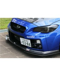 Charge Speed Front Mount License Plate Frame for Type 1 & Type 2 Front Bumper (Japanese FRP) Subaru WRX STi Sedan 15-20