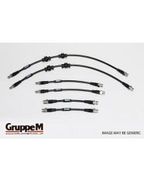 GruppeM MERCEDES W204 C63 AMG 6.2 (S/W/C) 2007 - 2015 ~ STAINLESS STEEL FITTING FRONT & REAR SET (BH-4001S)