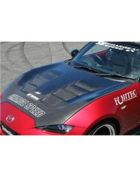 ChargeSpeed Vented Carbon Hood (Japanese CFRP) Mazda Miata ND 15-18