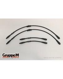 GruppeM PORSCHE 911 930 3.3 TURBO 1984- 1989 ~ CARBON STEEL FITTING FRONT & REAR SET (BH-1002)