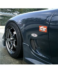 ChargeSpeed D-1 Style Type 2 Front 20MM Wide Body Fenders (Japanese FRP) Pair Mazda RX7 93-04