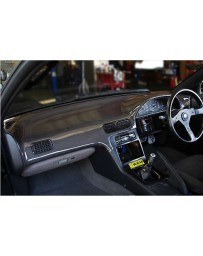 ChargeSpeed OEM Carbon Dashboard Cover (Japanese CFRP) - 1 Piece Right Hand Drive - JDM Plain Weave Nissan S13 89-94