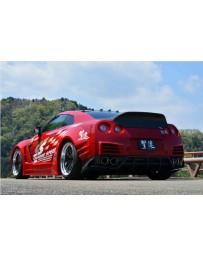 ChargeSpeed Wide Body Complete Kit with Carbon Front & Rear Under Diffuser (Japanese CFRP) 07-11 Nissan GTR
