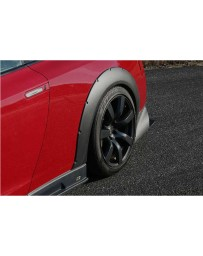 ChargeSpeed Bottom Line Gloss Carbon 20mm Rear Over Fenders (Japanese CFRP) Pair 07-19 Nissan GTR