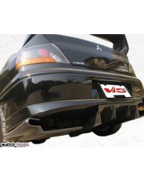 VIS Racing Universal VRS 3 pieces Carbon Fiber Rear Diffuser