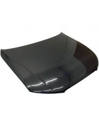 VIS Racing Carbon Fiber Hood OEM Style for AUDI A4 4DR 09-12