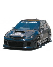 ChargeSpeed Type-2 Front Bumper (Japanese FRP) No Holes For Washer Model Subaru WRX Sti 08-14
