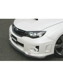 ChargeSpeed Bottom Lines Type 2 Front Lip Carbon (Japanese CFRP) Subaru WRX/ STi GV-B Sedan 11-14