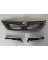 ChargeSpeed Carbon Grill Finisher (Japanese CFRP) Must Cut Original Bumper To fit Subaru WRX/ STi GV-B Sedan 11-14