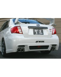 ChargeSpeed Type-C Sedan Rear Bumper FRP (Japanese FRP) Subaru WRX/ STi GV-B Sedan 11-14