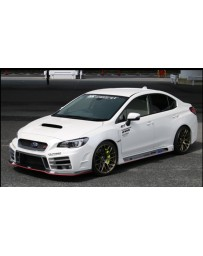 ChargeSpeed Type-3A Front Bumper with Carbon Under Part (Japanese CFRP/ FRP) - With LED Lights Subaru WRX STi 15-19