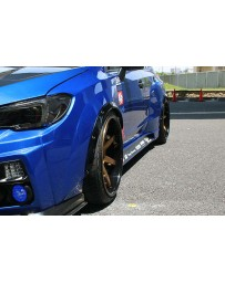 ChargeSpeed 30mm Carbon Over Fenders Front Rear Set to be use on top of Charge Speed Wide Body Fenders Subaru WRX STi 15-19