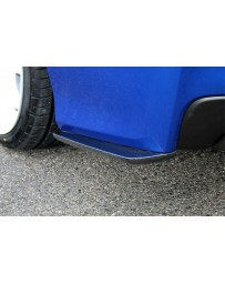 ChargeSpeed Type-1 Bottom Line Carbon Rear Caps (Japanese CFRP) Pair Subaru WRX STi 15-19