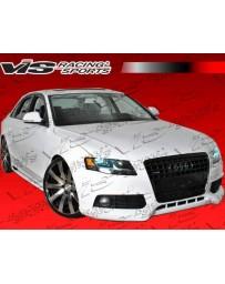 VIS Racing 2009-2012 Audi A4 4Dr R Tech Carbon Front Lip