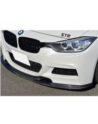 Varis Carbon Fiber Front Spoiler BMW 318d F30 M Sport 12-16