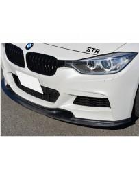 Varis Carbon Fiber Front Spoiler BMW 325i F30 M Sport 12-13