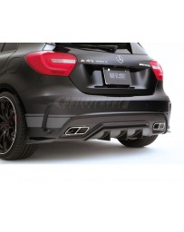 Varis Carbon Fiber and FRP Rear Diffuser Skirt 2pc Set Mercedes Benz A45 AMG Wagon 13-18