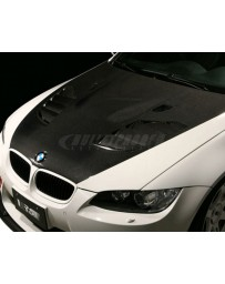 Varis Plain Weave FRP Vented Cooling Hood with and Carbon BMW E92 M3 08-13