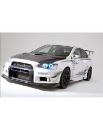 Varis Side Splitter Fin Replacement for Varis Bumper Mitsubishi EVO X CZ4A 08-15