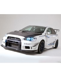Varis Carbon Center Splitter Fin Mitsubishi EVO X CZ4A 08-15