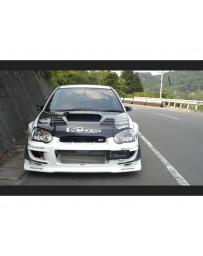 Varis Carbon Front Bumper Attachment Cover Set Subaru STi GDB C-D-E 02-15