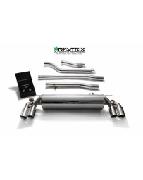 ARMYTRIX Stainless Steel Valvetronic Catback Exhaust System Quad Carbon Tips BMW 540i G30 G31 2017-2020