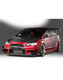 Varis Carbon Wide Body Full Kit D with Front VSDC Diffuser Mitsubishi EVO X CZ4A 08-15