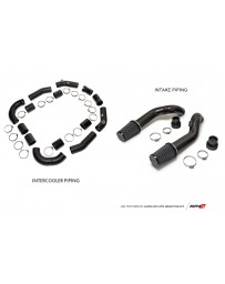 AMS Performance GT-R R35 Induction Kit with Stock Turbos/Manifold/TB / Alpha Intercooler/TiAL Flanges