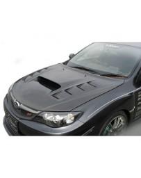 Varis VSDC Aero Cooling Bonnet Subaru STi GRB 08-16