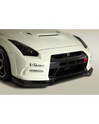 Varis Front FRP Bumper System VSDC Diffuser No Drl Hole Nissan GTR R35 09-16