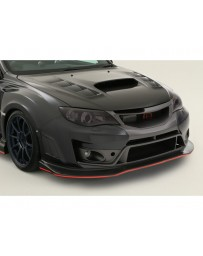 Varis Carbon Ultimate Front Bumper Version 2 2-Piece FRP w/Carbon Lip Subaru STi GRB 08-16