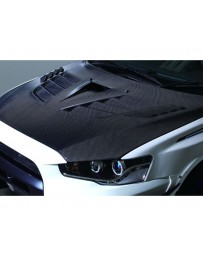 Varis FRP Vented Hood Version 2 Ultimate with Duct Mitsubishi EVO X CZ4A 08-15