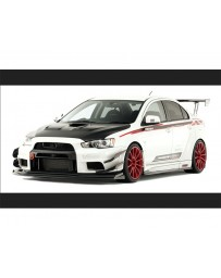 Varis Carbon Wide Body Big Underboard Only Mitsubishi EVO X CZ4A 08-15