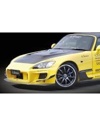 Varis Front FRP Bumper w/Carbon Lip Honda S2000 AP1 00-09