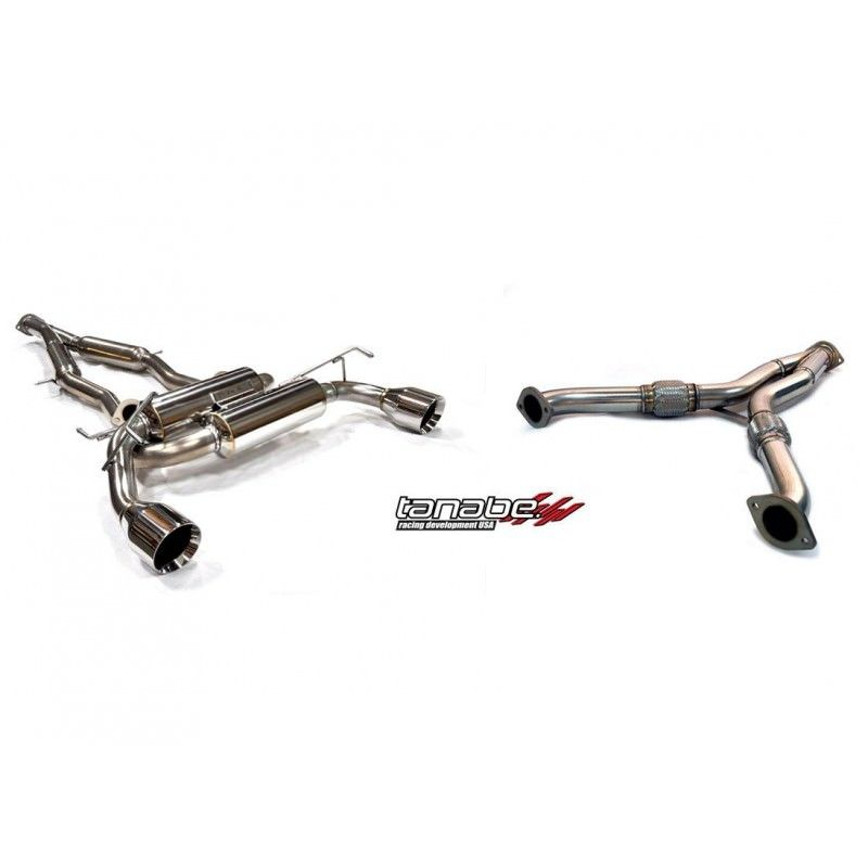 370z Tanabe Medallion Touring Dual Muffler C/B + Y-Pipe