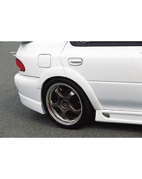 ChargeSpeed D-1 Rear Over Fender (Japanese FRP) 4Pcs. Subaru Impreza GC-8 4Dr 95-01