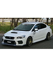ChargeSpeed Type-2 Bottom Line Side Skirts Carbon Complete Lip Kit 5 Pieces Subaru WRX STi 18-19