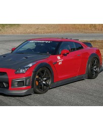 ChargeSpeed Bottom Line Hybrid Gloss Carbon Full Lip Kit with Over Fenders CFRP Nissan GT-R R35 09-16
