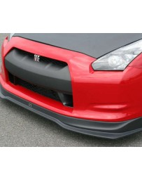 ChargeSpeed Bottom Line Hybrid Gloss Carbon Front Lip CFRP Nissan GT-R R35 09-16