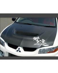 ChargeSpeed OEM Style Carbon Hood Mitsubishi Evolution VII VIII IX 02-07