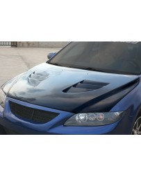ChargeSpeed FRP Vented Engine Hood Mazda 6 03-08