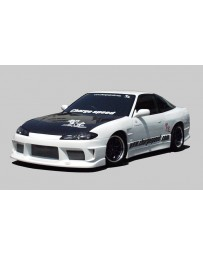 ChargeSpeed S15 Conversion Full Body Kit & Carbon Vented Hood Nissan 240SX S13 HB 89-94