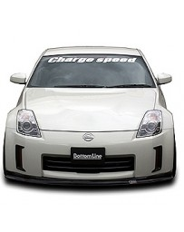 ChargeSpeed Bottom Line Carbon Front Lip Spoiler Nissan 350Z Kouki 06-08