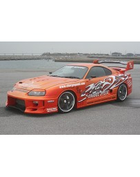 ChargeSpeed GT Wide Body Front Bumper w/ Carbon Flap Toyota Supra JZA80 93-98