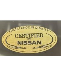 """300ZX Z32 Blaster Z """"Certified By Nissan"""" Quarter Glass Decal"""